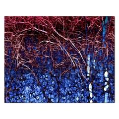 Autumn Fractal Forest Background Rectangular Jigsaw Puzzl