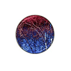 Autumn Fractal Forest Background Hat Clip Ball Marker