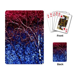Autumn Fractal Forest Background Playing Card