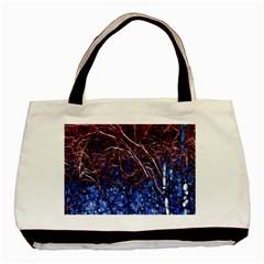 Autumn Fractal Forest Background Basic Tote Bag
