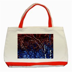 Autumn Fractal Forest Background Classic Tote Bag (red)