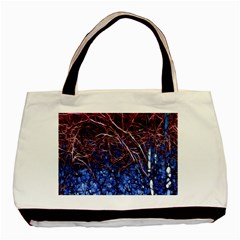 Autumn Fractal Forest Background Basic Tote Bag (two Sides)