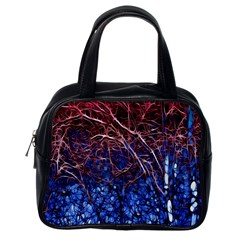 Autumn Fractal Forest Background Classic Handbags (One Side)