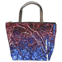 Autumn Fractal Forest Background Bucket Bags