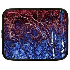 Autumn Fractal Forest Background Netbook Case (xxl)