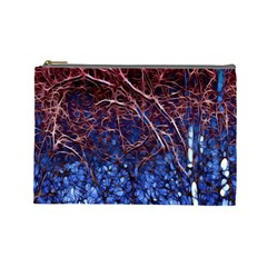 Autumn Fractal Forest Background Cosmetic Bag (large)