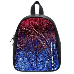 Autumn Fractal Forest Background School Bags (small)
