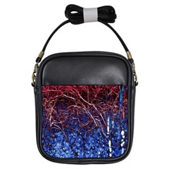 Autumn Fractal Forest Background Girls Sling Bags