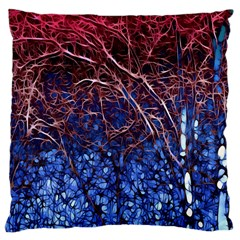 Autumn Fractal Forest Background Large Cushion Case (One Side)