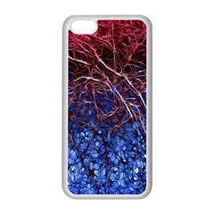 Autumn Fractal Forest Background Apple Iphone 5c Seamless Case (white)