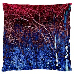 Autumn Fractal Forest Background Large Flano Cushion Case (One Side)