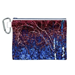 Autumn Fractal Forest Background Canvas Cosmetic Bag (L)