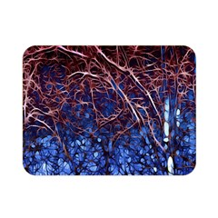 Autumn Fractal Forest Background Double Sided Flano Blanket (mini)