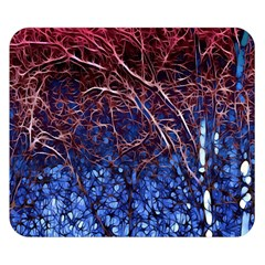 Autumn Fractal Forest Background Double Sided Flano Blanket (Small)