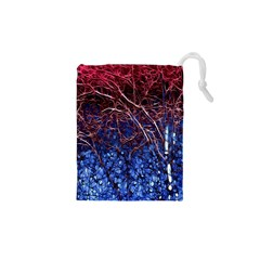 Autumn Fractal Forest Background Drawstring Pouches (xs)