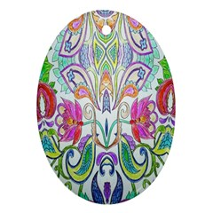 Wallpaper Created From Coloring Book Ornament (Oval)