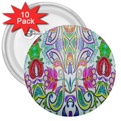 Wallpaper Created From Coloring Book 3  Buttons (10 pack)
