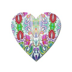 Wallpaper Created From Coloring Book Heart Magnet