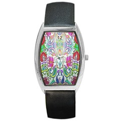 Wallpaper Created From Coloring Book Barrel Style Metal Watch