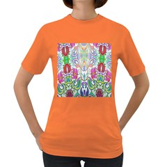 Wallpaper Created From Coloring Book Women s Dark T Shirt