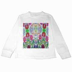 Wallpaper Created From Coloring Book Kids Long Sleeve T Shirts