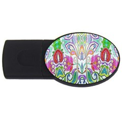 Wallpaper Created From Coloring Book Usb Flash Drive Oval (4 Gb)