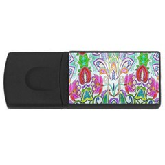 Wallpaper Created From Coloring Book Usb Flash Drive Rectangular (4 Gb)