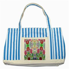 Wallpaper Created From Coloring Book Striped Blue Tote Bag