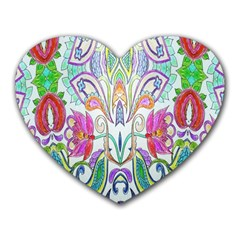 Wallpaper Created From Coloring Book Heart Mousepads