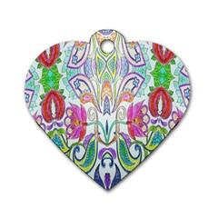 Wallpaper Created From Coloring Book Dog Tag Heart (one Side)