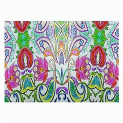 Wallpaper Created From Coloring Book Large Glasses Cloth (2 Side)