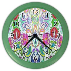 Wallpaper Created From Coloring Book Color Wall Clocks