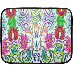 Wallpaper Created From Coloring Book Double Sided Fleece Blanket (mini)