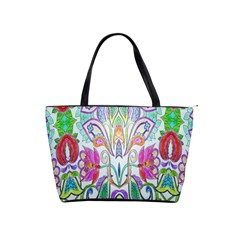 Wallpaper Created From Coloring Book Shoulder Handbags