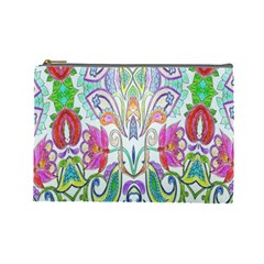 Wallpaper Created From Coloring Book Cosmetic Bag (large)