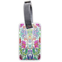 Wallpaper Created From Coloring Book Luggage Tags (one Side)
