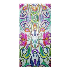 Wallpaper Created From Coloring Book Shower Curtain 36  X 72  (stall)