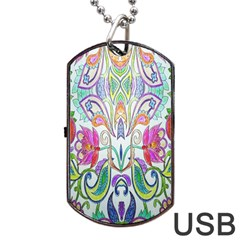 Wallpaper Created From Coloring Book Dog Tag Usb Flash (one Side)