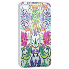 Wallpaper Created From Coloring Book Apple Iphone 4/4s Seamless Case (white)