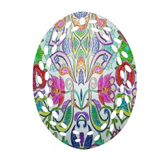 Wallpaper Created From Coloring Book Ornament (oval Filigree)