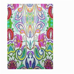 Wallpaper Created From Coloring Book Large Garden Flag (Two Sides)