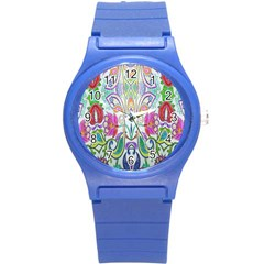 Wallpaper Created From Coloring Book Round Plastic Sport Watch (s)