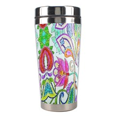 Wallpaper Created From Coloring Book Stainless Steel Travel Tumblers
