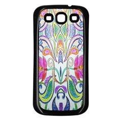 Wallpaper Created From Coloring Book Samsung Galaxy S3 Back Case (black)