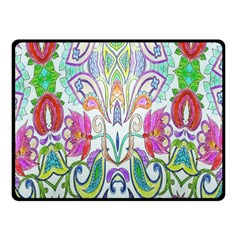 Wallpaper Created From Coloring Book Double Sided Fleece Blanket (small)