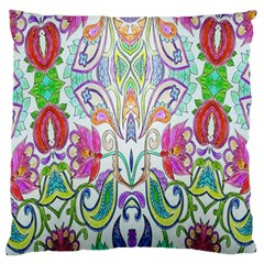 Wallpaper Created From Coloring Book Large Flano Cushion Case (Two Sides)