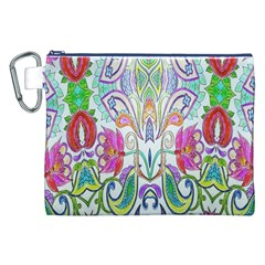 Wallpaper Created From Coloring Book Canvas Cosmetic Bag (XXL)