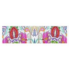 Wallpaper Created From Coloring Book Satin Scarf (Oblong)