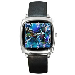 Water Is The Future Square Metal Watch