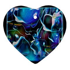 Water Is The Future Heart Ornament (two Sides)